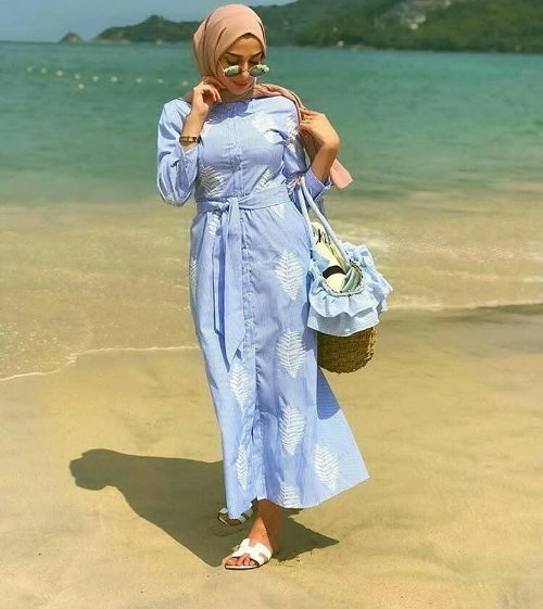 Hijab outfits for the beach | | Just Trendy Gir