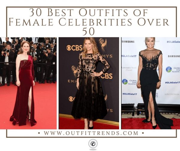 30 Best Outfits of Female Celebrities Over 50-Fashion Ide