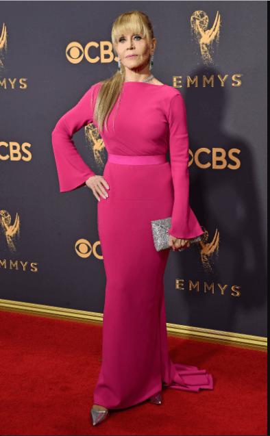 Jane-Fonda-Hot-Pink-Dress-309x500 30 Best Outfits of Female .