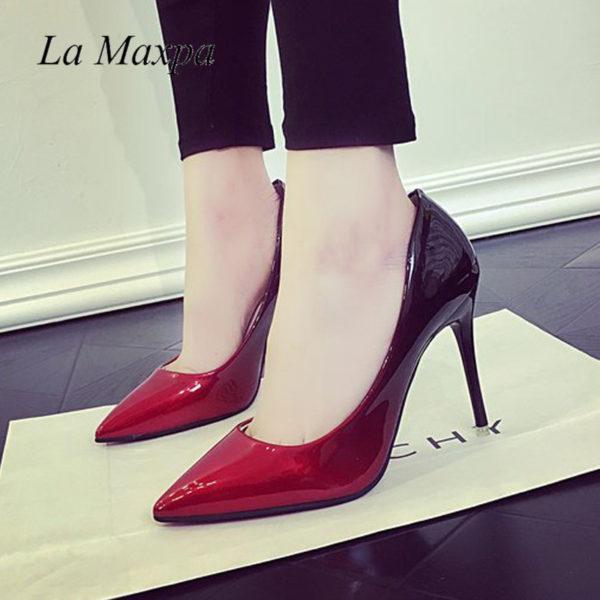 Black-red heels | Heel Shop 24 in 2020 | Women shoes, Heels .