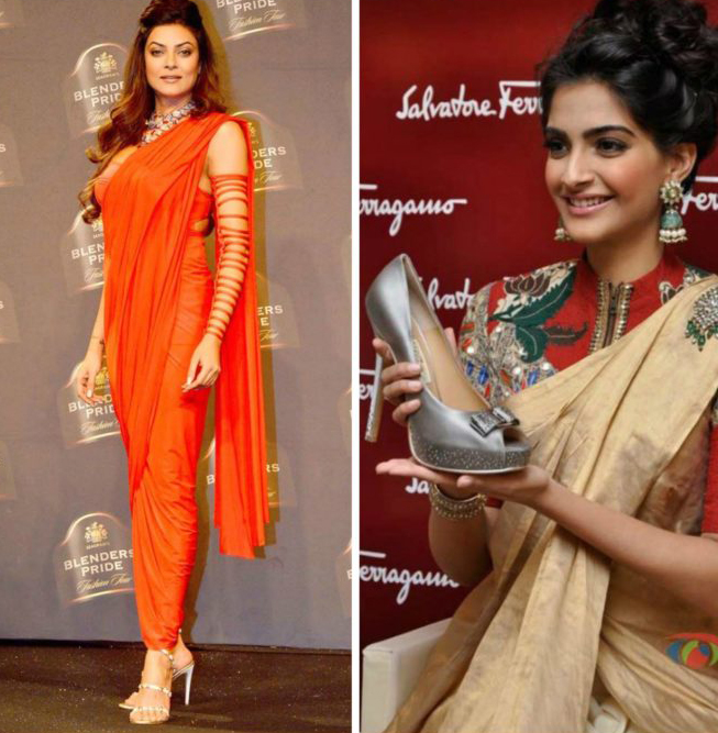 Looking good in your saree? Match it with the right kind of footwe