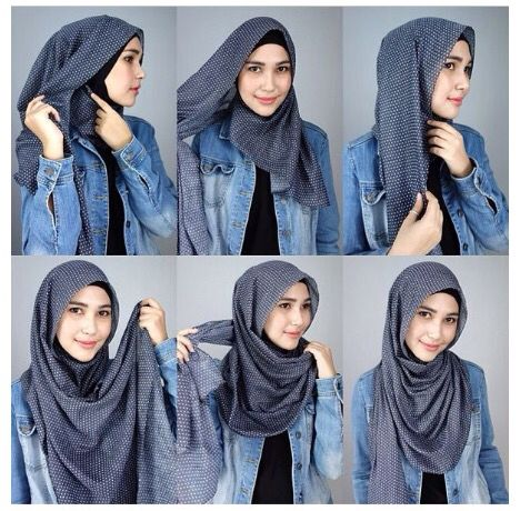 Hijab tutorial. Loose style, works best during hot summer days .