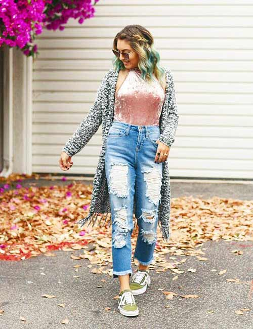 How To Wear High Waisted Jeans – 20 Outfit Ide