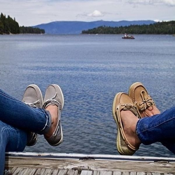 Authentic Original 2-Eye Boat Shoe | Boat shoes, Brown boat shoes .