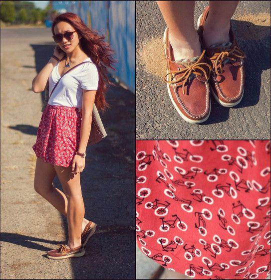 Outfit Ideas to Wear with Women's Sperry Shoes | Loafers outfit .