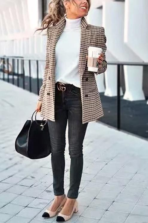 Chic Khaki Suit Blazer in 2020 | Best business casual outfits .