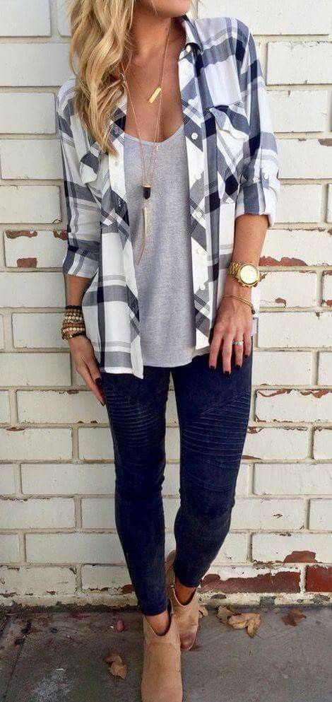 10 Ways To Wear a Plaid Shirt - Classy Yet Trendy | Casual fall .
