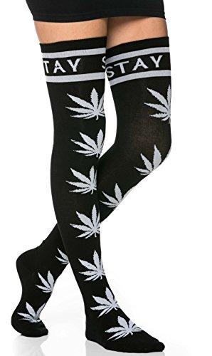 Stay High, Weed Print Thigh High Soc