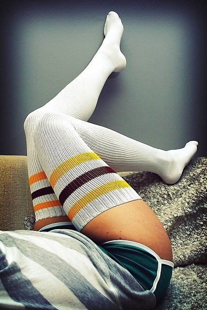 outfittrends: 12 Funky and Cool Printed Thigh High Socks Stockin
