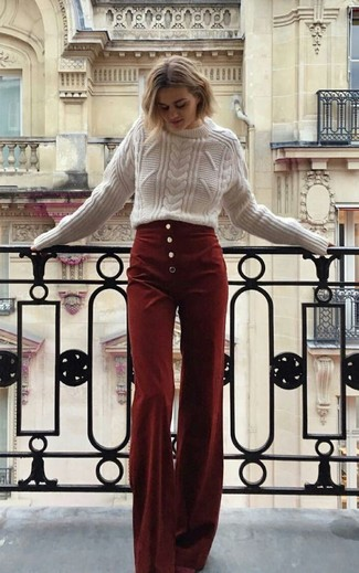 Burgundy Corduroy Pants Outfits For Women (6 ideas & outfits .