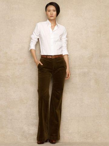 Leticia Corduroy Trouser - Blue Label Pants - RalphLauren.com $25 .