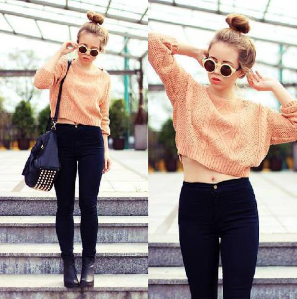 sweater, studded, cardigan, jumper, crop tops, cropped, cropped .