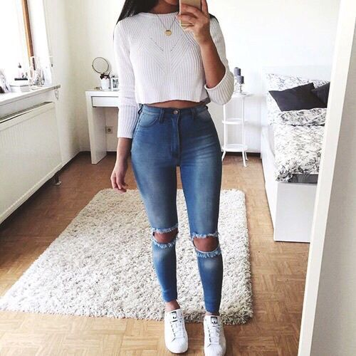 Style Spacez: 12 Cheap Cropped Sweater Outfit Ideas for Fall .