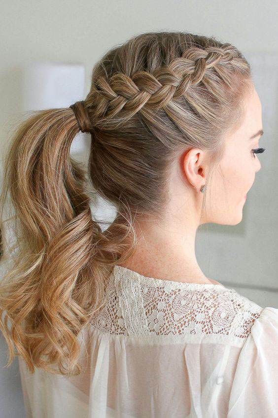 34+ Cute Easy Braided Hairstyles for Beautiful Women – Page 15 .