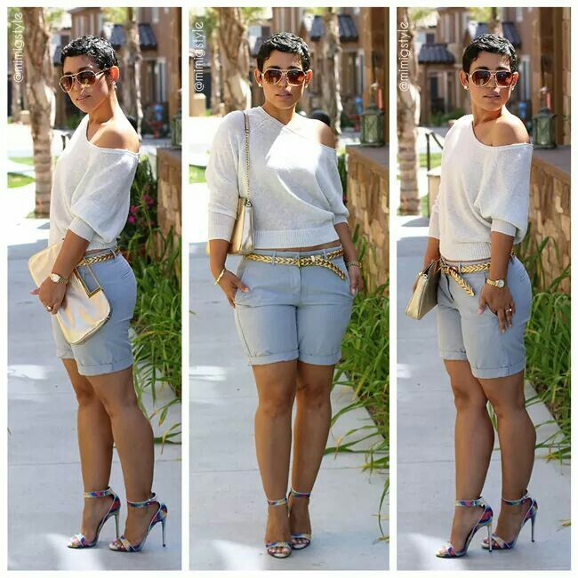 20 Cute Bermuda Short Outfits for Girls for Chic lo