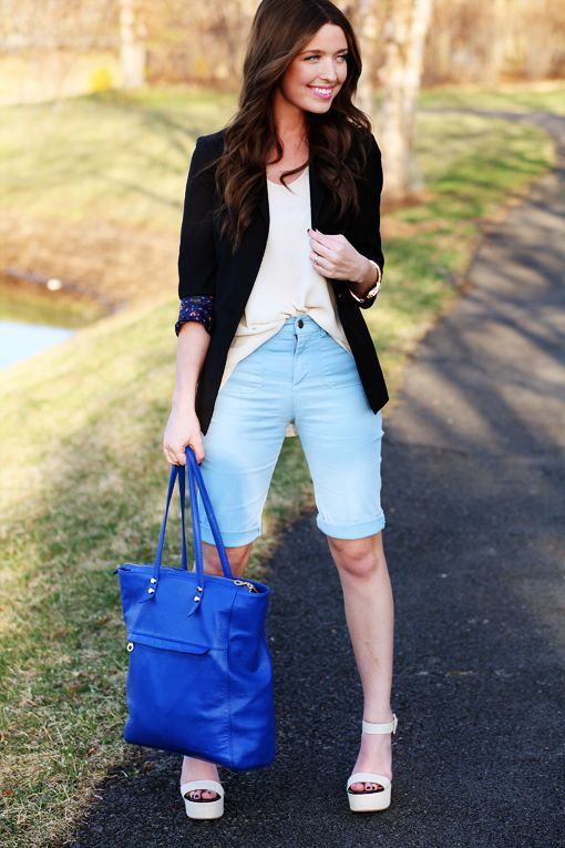 20 Cute Bermuda Short Outfits for Girls for Chic look - Cheap .