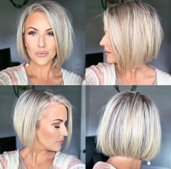 21+ Cute Bob Haircuts for Fine Hair in 2020 in 2020 | Bobs for .