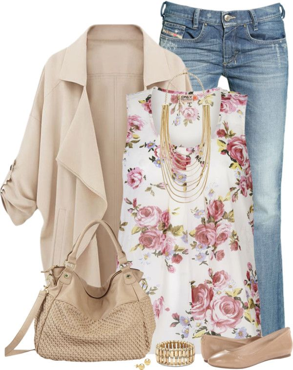 20 Cute Outfit Combinations With Floral Top - Be Modish | Flirty .
