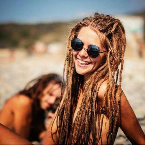 She looks lock lovely! Genuine happy hippie girl! So cute .