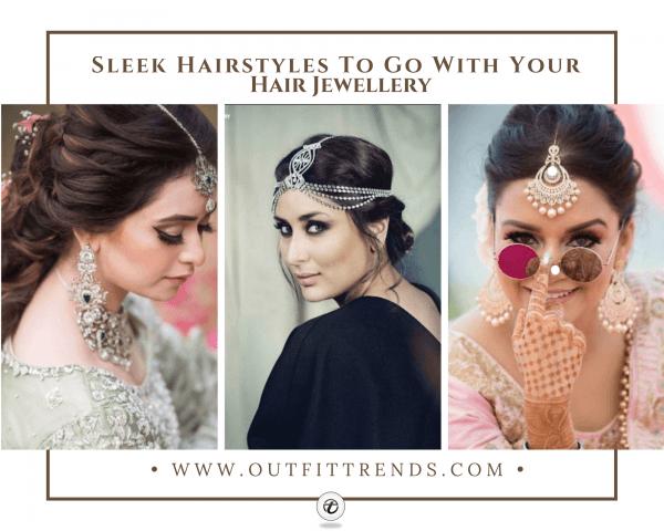 35 Cute Hairstyles with Maang tikka/Maatha Patti This Seas