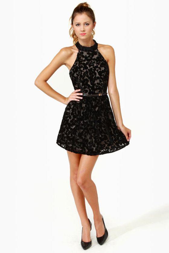 cute halter dresses (02) (With images) | Black halter dress, Black .