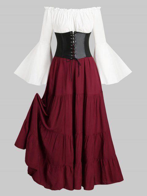 Lace-up Corset Belt Vintage Renaissance Medieval Dress   Fantasy .