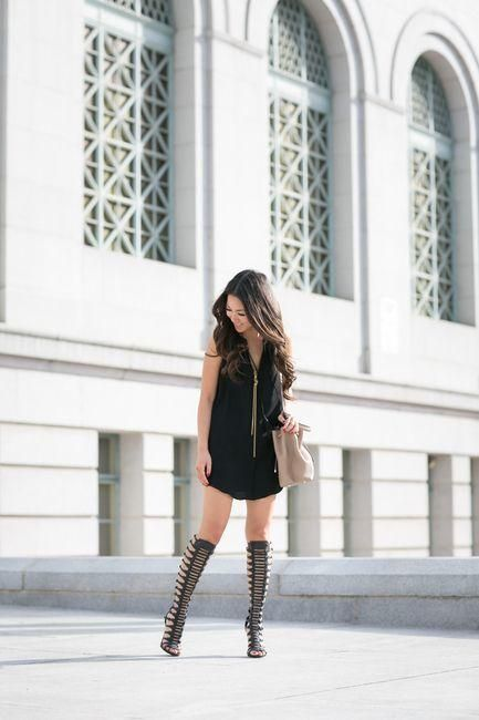 16 Cute Outfits To Wear With Gladiator Heels/Sandals This Seas