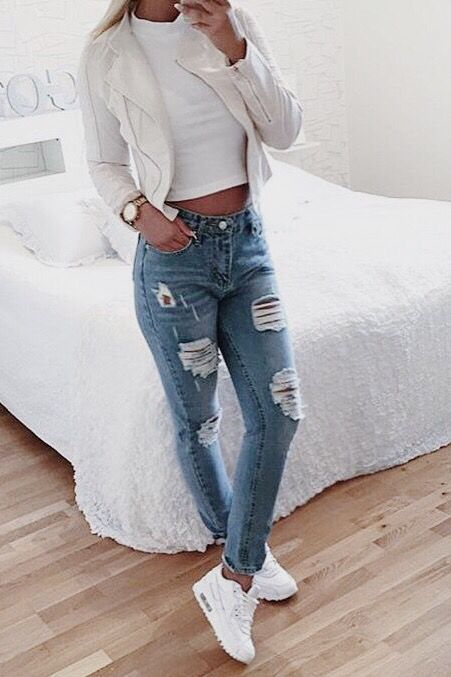 Outfits With Heels Part 1: Cute Winter Outfits (Ripped Jeans .