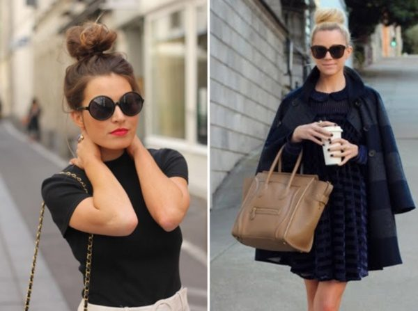 20 Cute Outfits with Top Bun Hairstyle to Compliment Style - Cheap .