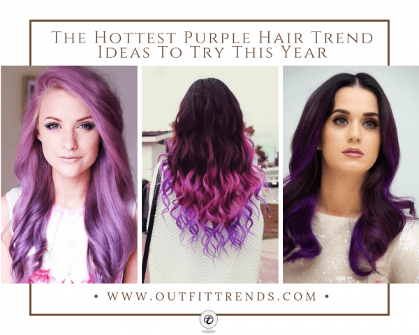 30 Cute Purple Hairstyle for Girls 2020 - New Purple Shad