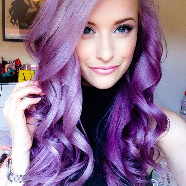 30 Cute Purple Hairstyle for Girls 2020 – New Purple Shades .
