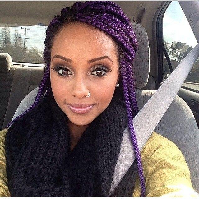Top 13 Cute Purple Hairstyles for Black Girls this Season | Purple .