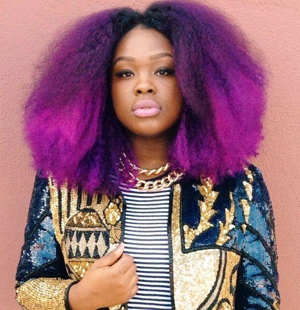 Top 13 Cute Purple Hairstyles for Black Girls this Season .