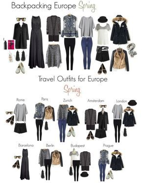 Backpacking in Europe this Spring - Packing List and Travel .