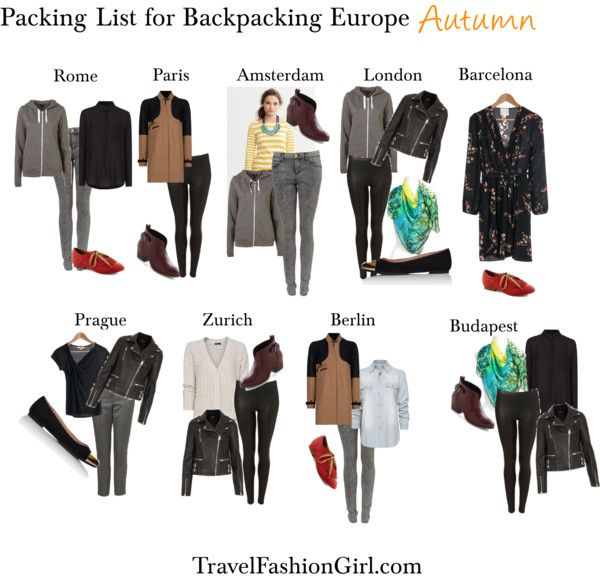 The Ultimate Packing List for Backpacking Europe in Autumn .