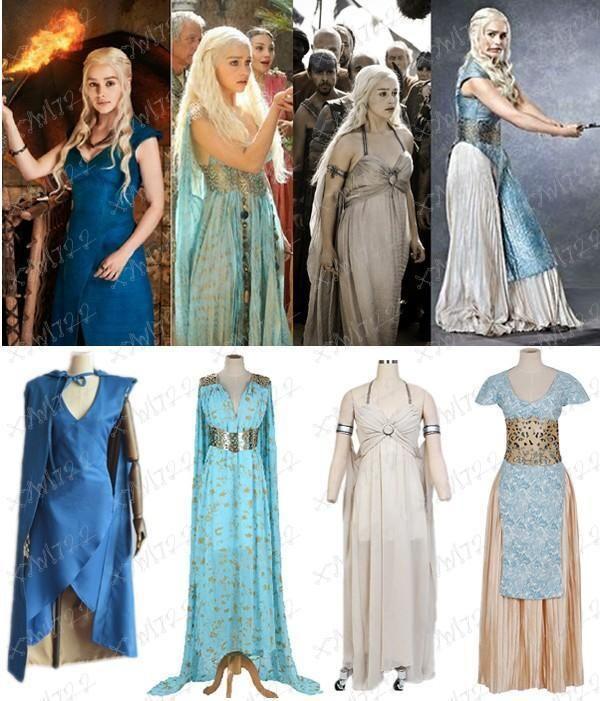 New Game of Thrones Daenerys Targaryen Fancy Dress Women Halloween .