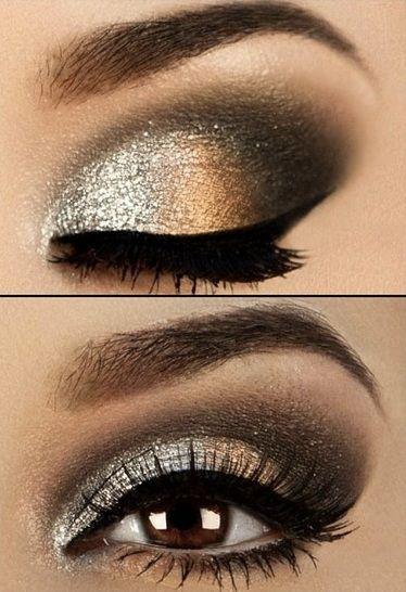 7 Gorgeous Celebrity Eye Makeup Ideas   AmazingMakeups.com   Gold .