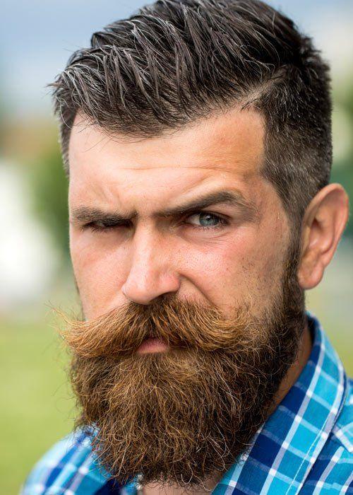 Top 10 Most Popular Men's Hairstyles | Beard no mustache, Beard .