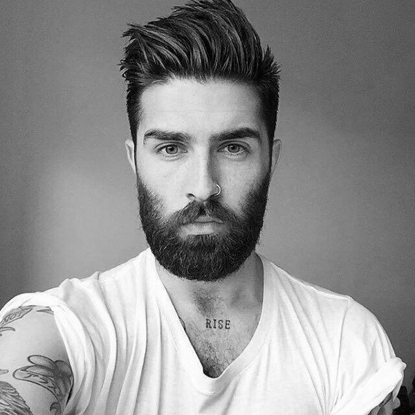 50 Hairstyles For Men With Beards - Masculine Haircut Ide