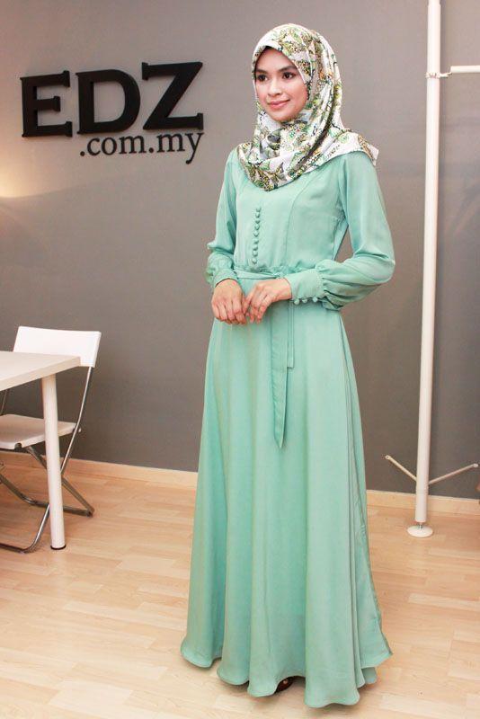 Hijab Maxi Style- 20 Cute Ways To Wear Hijab With Maxi Dress .