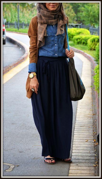 Hijab Maxi Style -20 Chic Ways To Wear Hijab With Maxi dre