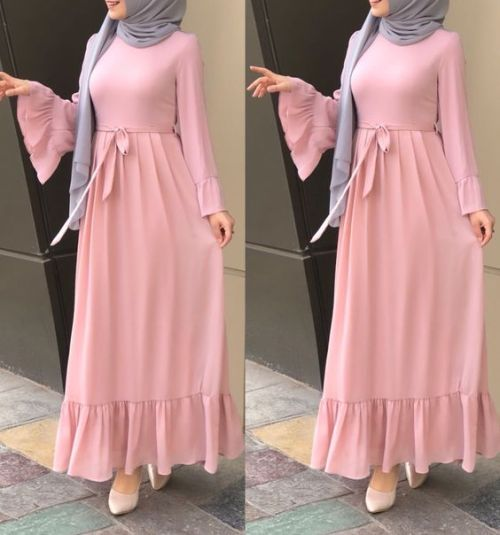 Maxi dresses with hijab styles     Just Trendy Gir