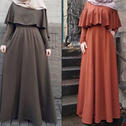 Maxi dresses with hijab styles   Muslim fashion dress, Muslim .