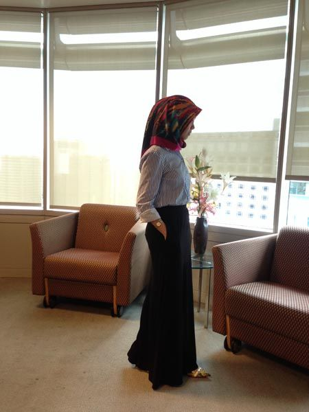 Hijab Office Wear- 20 Ideas To Wear Hijab At Work Elegantly .
