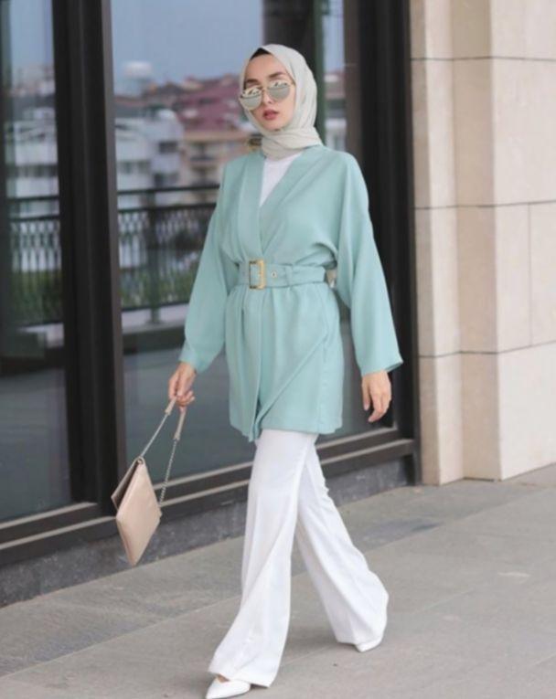 6+ Office Outfits Women Casual Hijab di 2020 | Model pakaian .