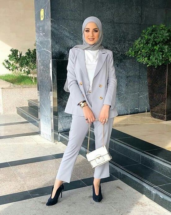 Pin by Arrwa Diraz on Aesthetic Hijabi Office Wear in 2020 | Hijab .