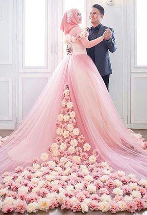 Islamic Wedding Gowns Hijab Wedding Dress For Muslim Women .