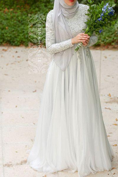 Delphinium Gown   Muslim wedding gown, Muslimah wedding dress .