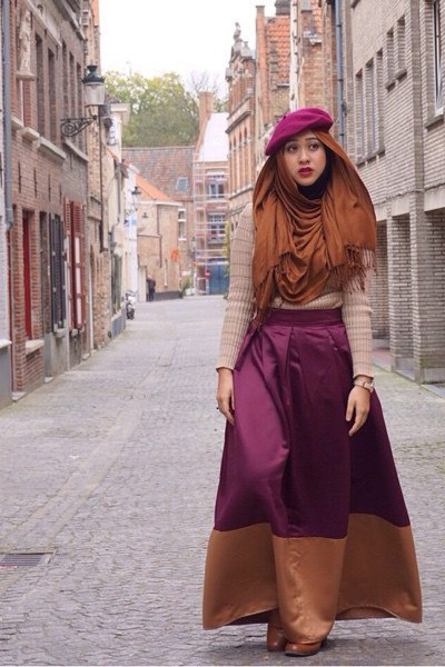 Hijab with Hats Styles-18 Modest Ways to Wear Caps with Hij