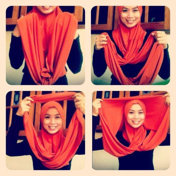 Hijab Tutorial for Jilbab Sosor :p   Hijab style tutorial, Modest .